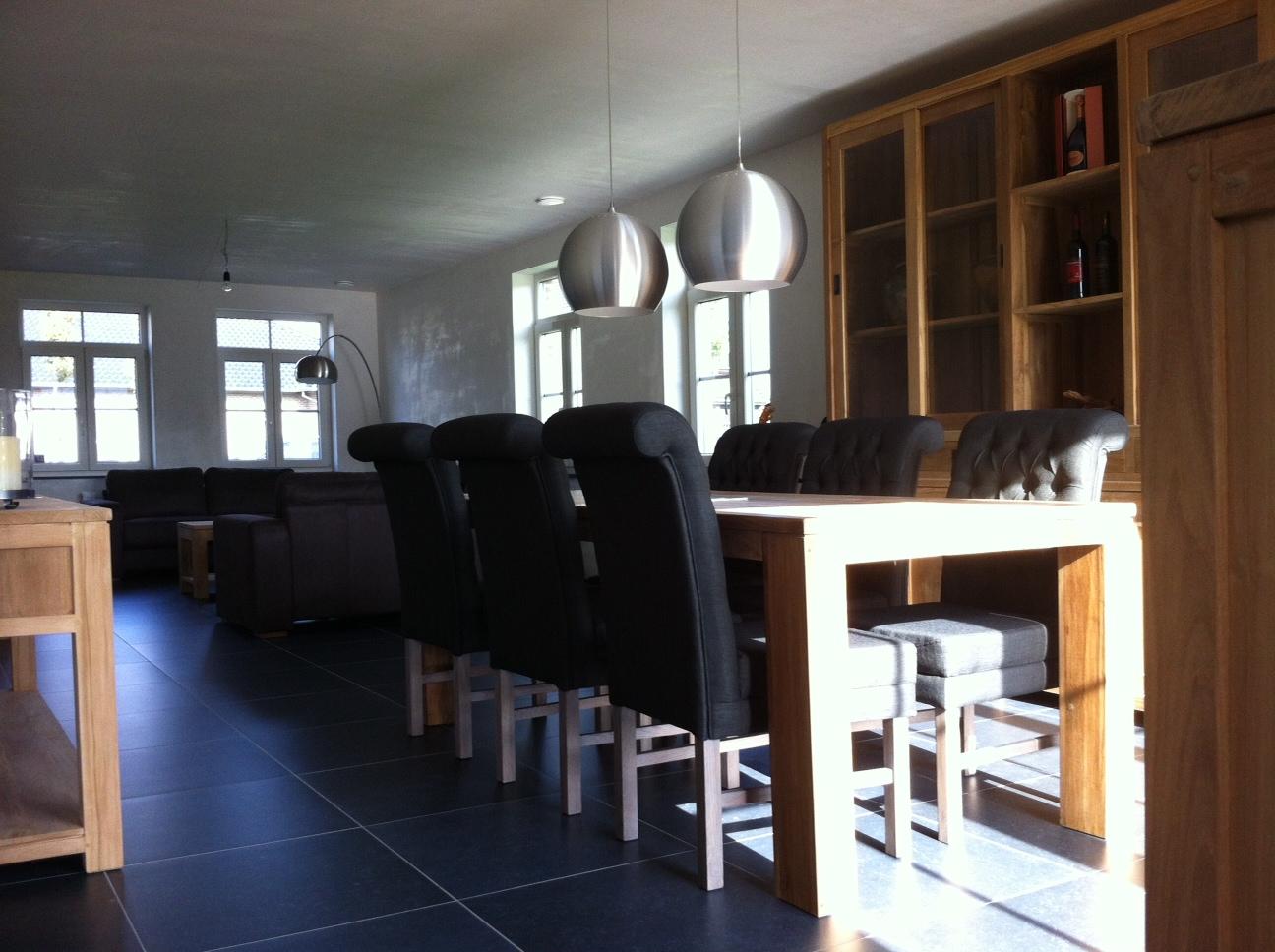 Klassiek landelijk interieur bouwatelier bvba for Eetkamerstoelen landelijk interieur